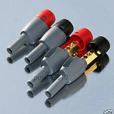 4 DELTRON BFA CAMCON PLUGS Arcam Linn Cyrus Amplifier Connectors