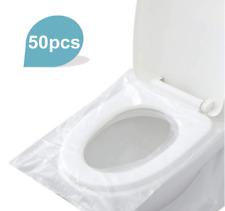 50Pcs Toilet Seat Covers Disposable Waterproof Travel Portable Wc Pad Toilet Mat