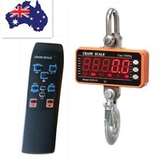 Digital Crane Scale Portable LCD Screen Hook Weight Industrial Hanging 1000kg 1T