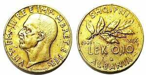 Albania 1941 COIN 0.10 LEK - ORIGINAL COIN - ITALY OCCUPATION - no155