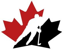 12 STICKERS TEAM CANADA Hockey  Vinyl HQ Window WALL LAPTOP DECAL car Stickers