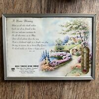 Vintage Advertising Thermometer Tennessee Butane Company Cottage Garden Blessing