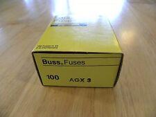 Cooper Bussmann AGX-3 New Old Storage Fuse Box 67 Pieces