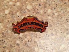 Sierra Nevada Ale Beer Enamel Lapel Pin Metal Die Cut Metallic Gold Brewing