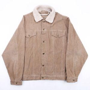 Vintage Brown 00s Regular Casual Corduroy Jacket Mens M