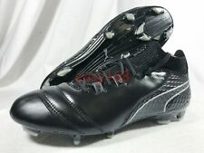 New Puma One 17.1 Fg Sz 12 Mens 104062-05 Black Leather Soccer Cleats 46 boots