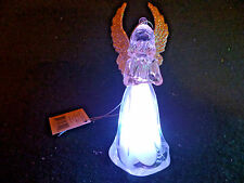 Hallmark Gift Bag Angel with Harp Ornament Changing Colors with Silver Cord NEW