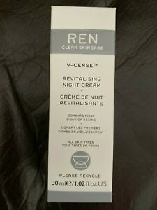 REN V-Cense Revitalising Night Cream 30ml NEW combats signs of ageing