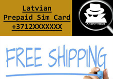 Latvian Anonymous Sim Card Credit Prepaid Anonym Activation  Best For Accaunts