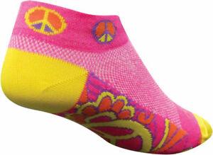 SockGuy Classic Groovy Women's Sock Pink/Yellow SM/MD