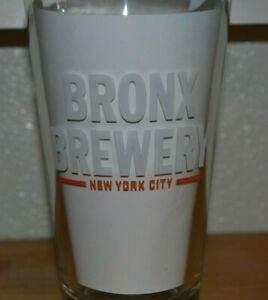 Bronx Brewery New York City Pint Beer Glass Nice Craft BX