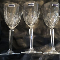 """Marquis By Waterford Sparkle Set Of 3 Crystal Wine Goblet Glasses 8""""Tall"""