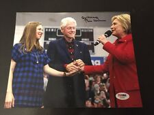 "Bill Clinton And Chelsea Signed Photo 8""x10"" Rare Item PSA Hillary PSA Letter"