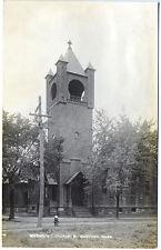 West Medford MA Methodist Church Fire Hydrant Real Photo RPPC Postcard