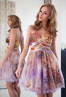 New Ladies Womens Wedding Formal Tutu Party Evening Prom Animal Mini Dress