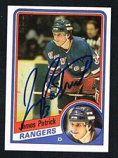 James Patrick #112 signed autograph auto 1984-85 Topps Hockey Trading Card