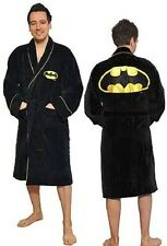 Mens GIFT Batman Dressing Gown COTTON Bath Robe Pocket & Belts- Adult Size New