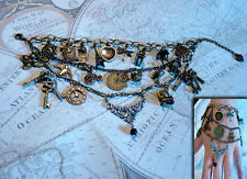 Steampunk Pearl's charm bracelet.