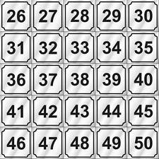 Number Type (26-50) For Dexter, Wascomat, Speed Queen, Huebsch, Maytag Washer