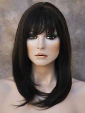HEAT SAFE HUMAN HAIR Blend Long Straight Off Black mix Wig WBMN 1B-30