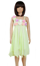 Girls Floral Party Dress 2 3 4 5 6 7 8 Years Pink Dark Pink White Lilac Green