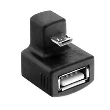 180 Degree Down Right Angled Micro USB OTG to USB 2.0 Female Extension Adapter