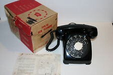 NOS Automatic Electric model/type 80 black desk telephone w/ org. box & instruct