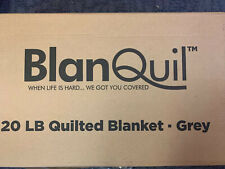 BLANQUIL QUILTED WEIGHTED BLANKET W/ REMOVABLE COVER Grey