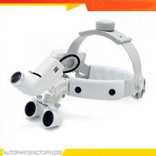 35x Dental Surgical Binocular Loupes 420mm Headband Loupes With Led Headlights