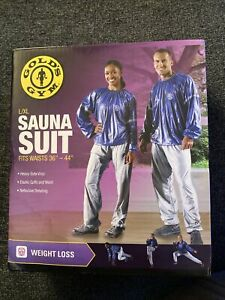 Golds Gym Sauna Pants L/XL Indoor outdoor Weight Loss Workout Vinyl