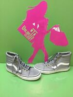 VANS Classic Sk8 Hi Gray Nylon Lace Up Skate Shoes Men's Size 6.5  Women's 8