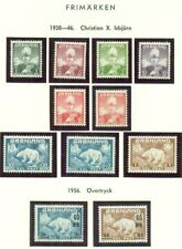 GREENLAND & FAROES COLLECTION – 1937-1990, in specialized album, Scott $2,524.00