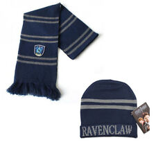 2pcs Harry Potter Ravenclaw House Scarf & Hat Soft Warm Cosplay Wrap Xmas Gift