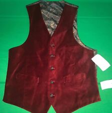 NEW Ralph Lauren Men's Button Down Vest (Red, Small)