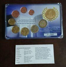 ESTLAND KMS 2011 ~ 1 Cent - 2 Euro & Medaille vergoldet PP mit Zertifikat ~