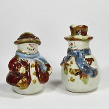 St. Nicholas Square FOREST FRIENDS Salt & Pepper Set Snowman Hat Coat MIB NWT