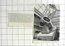 1964 Parson's Newcastle Building Isaac Newton Telescope For Royal Greenwich