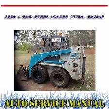 TOYOTA 2SDK 4 SKID STEER LOADER 2T75HL ENGINE REPAIR SERVICE MANUAL ~ DVD