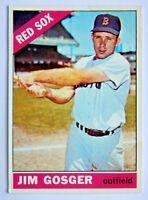 Jim Gosger #114 Topps 1966 Baseball Card (Boston Red Sox) VG