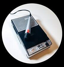 Registratore a cassette con Microfono Vintage PHILIPS EL 3302 Funzionante