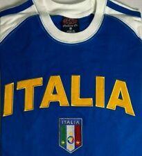 Italy Soccer Shirt Italia Embroidered NWT 100% Cotton EUEFA EURO 2020 2021