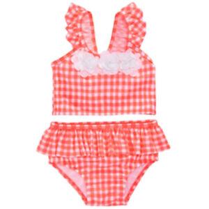 New First Impressions Baby Girls 2 Piece Tankini Swim Suit Size 24 Months