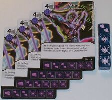 4 X ATOM DR. RAY PALMER 36/142 War Of Light Dice Masters DC