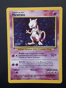 Carte Pokémon MEWTWO Set de Base 10/102 HOLO BE