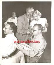 Vintage Doris Day BACKLOT CANDID WITH DIRECTOR David Butler 50s PUB Portrait