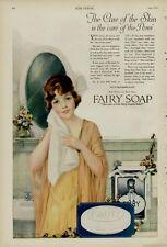 1920 FAIRY SOAP AD / FEMALE IN BATHROOM SCENE.....ARTISTS: J KNOWLES HARE