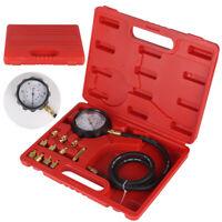 Compression Tester Wave Box Oil Pressure Meter Gauge Petrol Diesel Garage Set