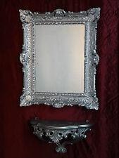 Wandspiegel + Konsole Spiegelablage 56x46 ANTIK BAROCK 811 Eingangsmöbel Silber