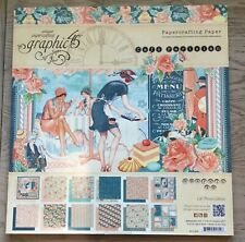 Graphic 45 Cafe Parisian Paper Collection 12 x 12 BRAND NEW