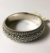 Amrita Singh Silver Tone Bangle Bracelet (Style BRC668/Size 6) - NWT